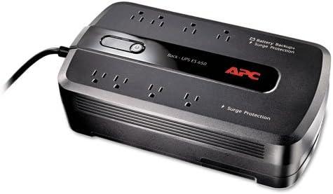 Back-UPS ES 650 Battery Backup System, 650VA, 8 Outlets, 365 J, Sold as 1 Each