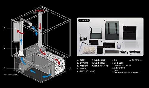 ジェックスグラステリアAGSアグスオーバーフロー水槽
