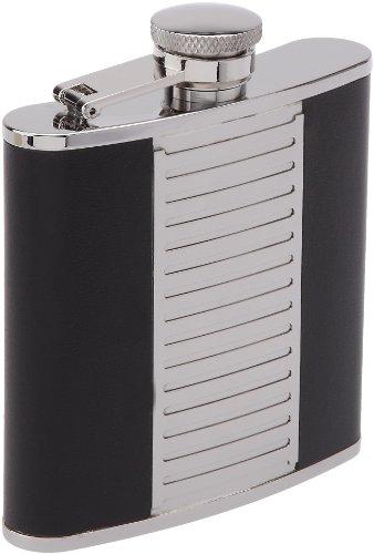 Keen Sport 11604 Flasque 150 ml Inox et Cuir Noir Bouchon Baionnette