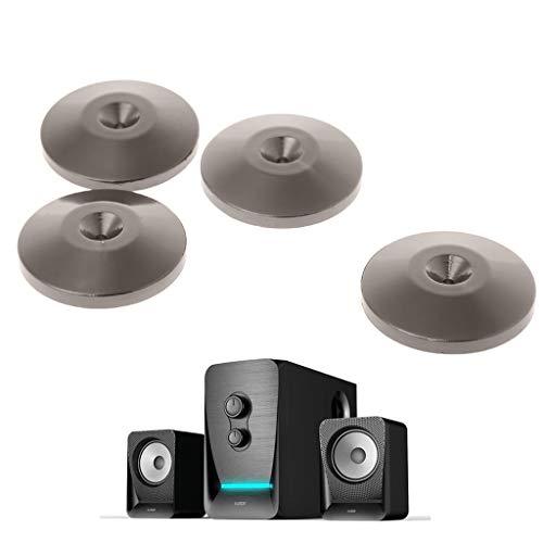4 Stück Isolierfüße für Füße, Lautsprecher, isolierend, Verstärkerspitze, vernickelt