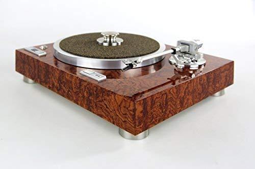 Restaurierter & Modifizierter Kenwood KD-770D Plattenspieler mit Edelholzfurnier und Hochglanz-Lackierung