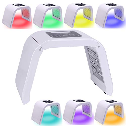 7 Color PDT LED Face Mask Light Therapy Device Skin Tightening Machine Skin Rejuvenation Photon Device For Face Black Spot Remover Anti-Wrinkle Anti Aging Salon SPA Skin Care Tools for Face Neck Body