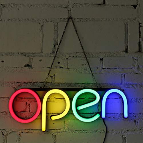 Insegna Lampadina Luce Neon LED Catenella Finestra Esposizione Aperto Ultra Luminoso Negozio,EU