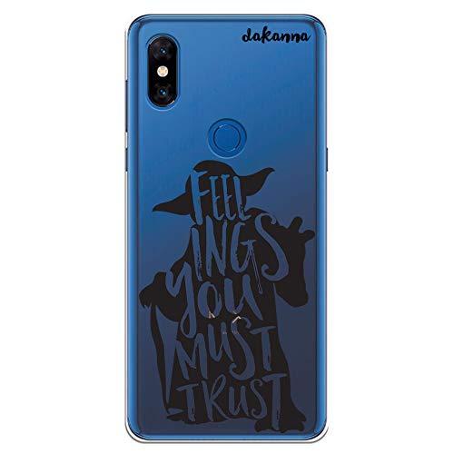 dakanna Funda para Xiaomi Mi Mix 3 | Frase motivación Feelings You Must Trust | Carcasa de Gel Silicona Flexible | Fondo Transparente