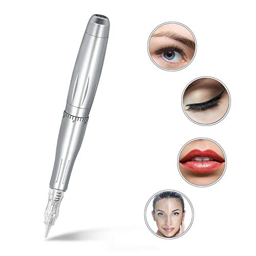 Eyebrow Tattoo Machine Pen - BIOMASER Profession Rotary Permanent Makeup Tattoo Pen Tattoo Gun Eyebrow Carving Kit for P300 with 3 Cartridge Needles for Eyeliner Lip Counter