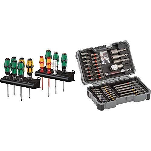 Wera Kraftform XXL, Schraubendreher Set 12-teilig, 05051010001 & Bosch Professional 43tlg. Schrauber Bit Set (Zubehör für Elektrowerkzeuge)