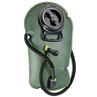 Aquatic Way Hydration Bladder Water Reservoir for Bicycling Hiking Camping Backpack. Non Toxic, Easy Clean Large Opening, Quick Release Insulated Tube w/Shutoff Valve (Green 3L 3 Liter 100 oz)
