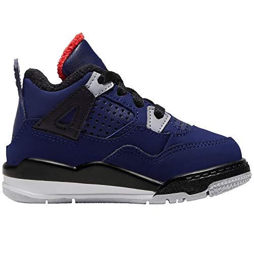 Jordan Nike 4 Retro TD Kids Loyal Blue BQ7670-401 (Size: 9C)