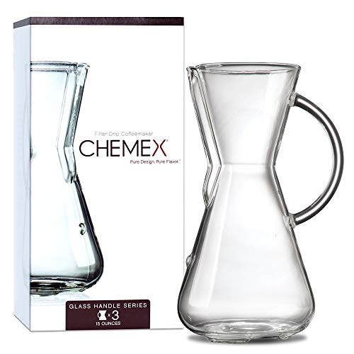 Chemex Pour-Over Glass Coffeemaker - Glass Handle Series - 3-Cup - Exclusive Packaging