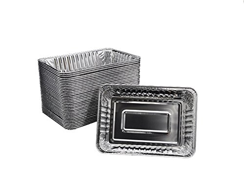 """5/10/20 PCS Disposable Lightweight Aluminum Drip Pans for Kepping Grill Clean 8.5""""x 6.0"""" (10PCS)"""