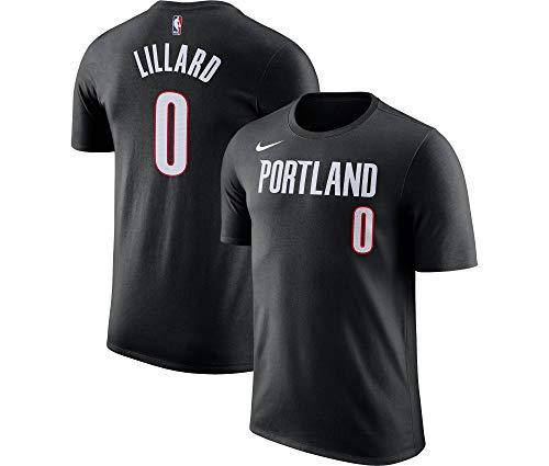 Nike Damian Lillard Portland Trail Blazers NBA Boys Youth 8-20 Player Name & Number Dri-Fit T-Shirt - Black (Youth Small 8)