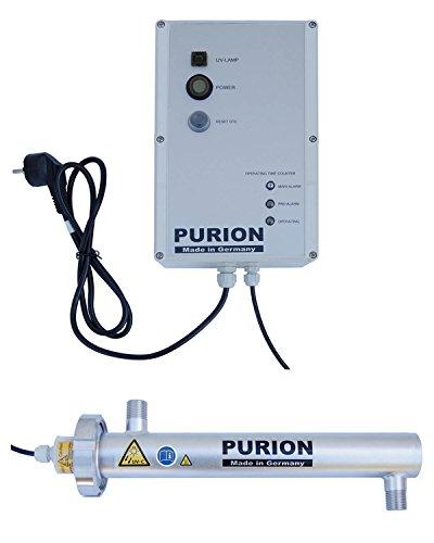 PURION 500 UVC clarificador con 10W 400l/h de desinfección de agua potable,...