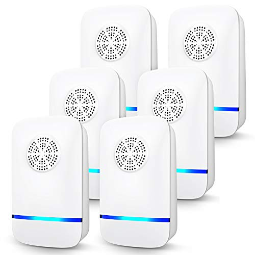 Ultrasonic Pest Repeller, 6 Packs, 2020 Upgraded, Electronic Indoor Pest Repellent Plug in for Insects, Mice,Ant, Mosquito, Spider, Rodent, Roach, Mosquito Repellent for Children