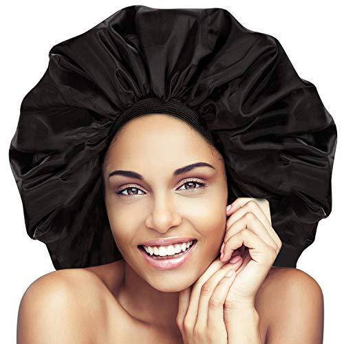 Noverlife Super Jumbo sommeil Cap, anti-éclaboussures d'eau Cap, Cap Night & Day pour les femmes Traitement des cheveux protéger les cheveux des frisotter, Turban Bandeau souple confortable
