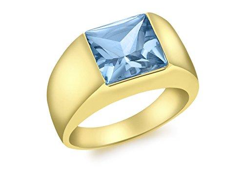 Carissima Gold Damen-Ring 375 9 Karat (375) Gelbgold Blau Topas 57 (18.1)