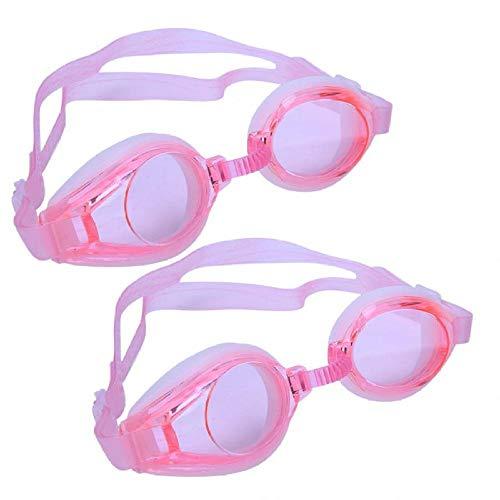 anruo 2 paar zwembril met oorsteker volwassenen groot frame zwembril duikbril anti-mist waterdichte zwembril brillen brillen
