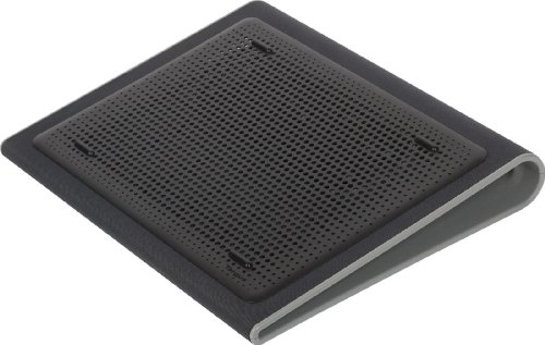 Targus Portable Lightweight Chill Mat Lap with Dual Fans Ventilation Prevents Overheating, LED USB Port, Cooling Pad for Laptop, Black/Gray (AWE55US) Black with Gray