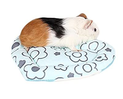 Dylandy Hamster Sleeping Bed Hamster Warm Bed Hamster Sleep Mat Love Heart Hamster Blanket Pad For Guinea Pig Rabbit Cat Small Pet Winter(Blue) from Dylandy