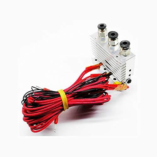 HUANRUOBAIHUO Triple Nozzle for 3D Printer Extruder Three in three out nozzle kit 3D Printer Extruders accessories (Size : 24V)
