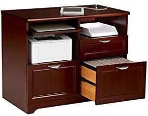 "Realspace Magellan 36""W Tech Station Printer Stand 2.0, Classic Cherry"