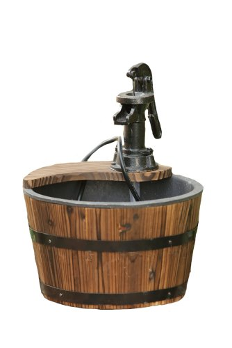 Your Heart's Delight Single Bucket Old Pump Fountain, 11 by 13-1/2-Inch
