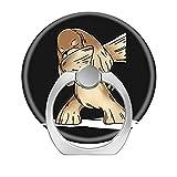 Fingerring-Ständer, 2 Stück, 360 Grad drehbar, Handy-Ring-Halterung, Handy-Ring für iPhone, Samsung Galaxy, Smartphones und Tablet, lustiges Dabbing Cocker Spaniel