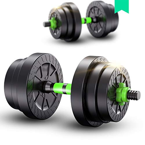 WSA Kurzhanteln Kurzhanteln, Herren-Fitness-Heim, EIN Paar Gewicht verstellbar 22 Pfund 33 Pfund 44 Pfund Langhantelset (Größe : 15KG)
