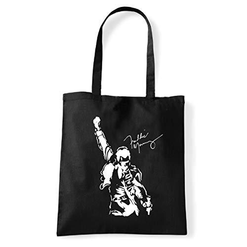 Art T-shirt, Tasche Shoulder Freddy Mercury Queen, Schwarz - schwarz - Größe: Taglia Unica