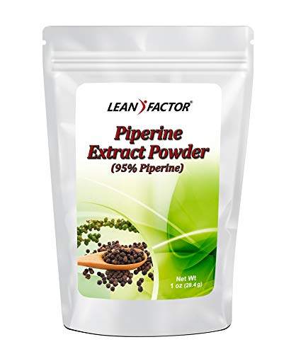 Piperine Powder Extract - Made from Black Pepper - Enhance Bioavailability and Absorption of Many Health Supplements Like Turmeric & Curcumin - Non GMO & Gluten Free - 1 oz