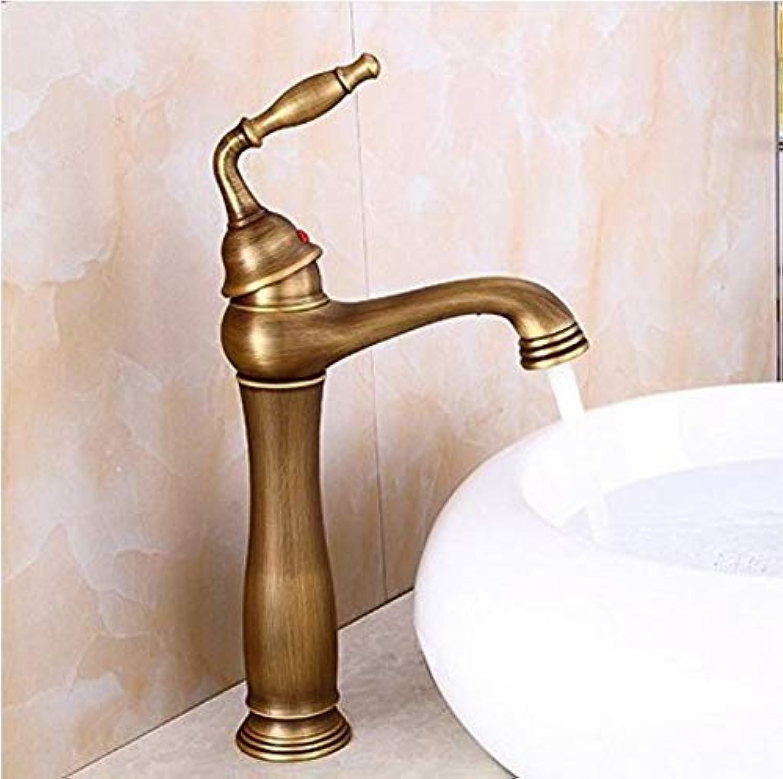 360 ° drehbarer Wasserhahn Retro WasserhahnBadezimmer Waschbecken Wasserhahn voll kupferblonder Wasserhahn