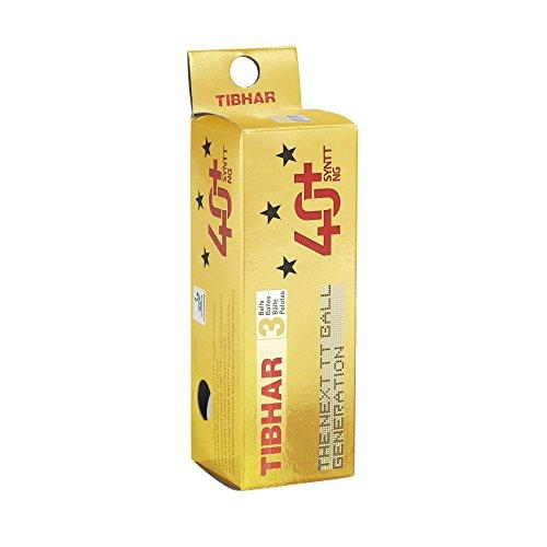 Tibhar SYNTT NG 40+ 3 Star Tischtennisbälle (3 Stück), weiß
