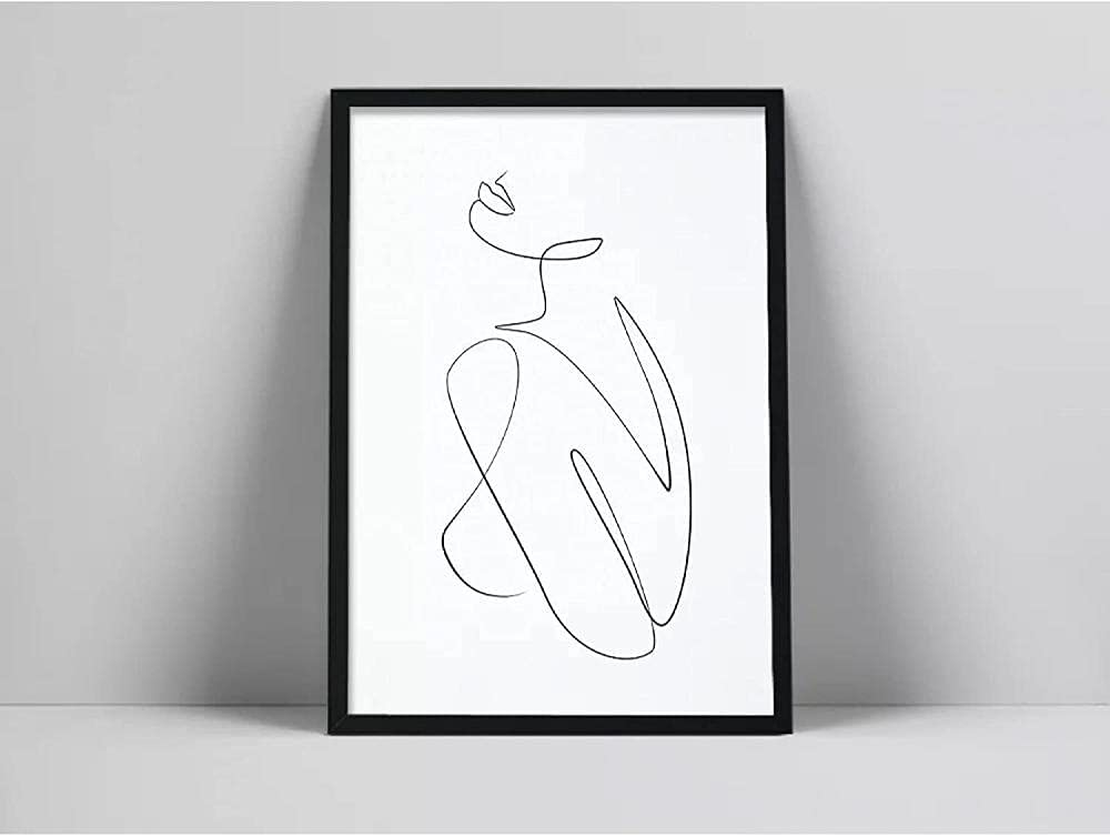 QDEI Woman Back one line Drawing Free shipping / New At the price of surprise Wall Art Printable Body Naked F
