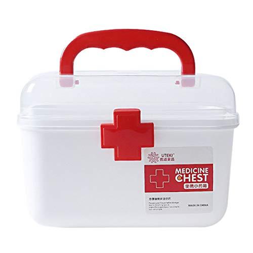 ColiCor Hausapotheke Box,Multi-Layer Medizin Box,Erste Hilfe Hausapotheke,21 x 16 x 15.5cm