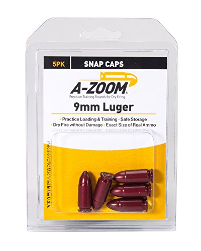 A-Zoom 15116 9mm Luger Precision Snap Cap 5 Pack