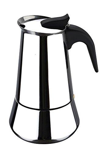 Edelstahl Espressokocher Teekanne Teebereiter Teekocher Teekessel Kaffeebereiter Espresso-Bereiter (Kaffeekanne, Höhe 21,5 cm, Kanne mit Deckel, Tee-Zubereiter, Kaffeebereiter)