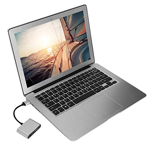 Shipenophy Adaptador USB Fuerte y Duradero Adaptador HDMI Convertidor VGA Adaptador computadora para computadora portátil para PC