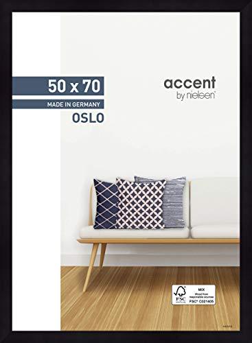 Nielsen Accent Holz Bilderrahmen Oslo, 50x70 cm, Schwarz