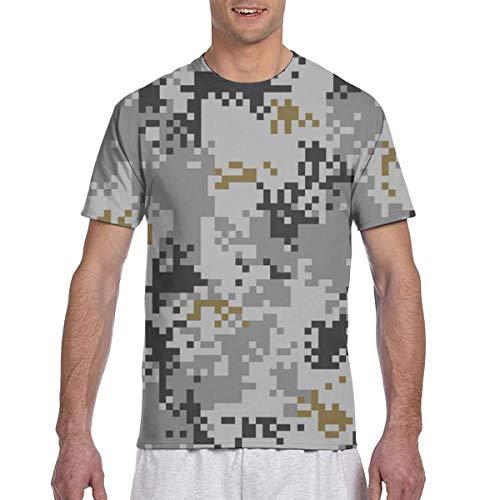 Camiseta de Rendimiento Deportivo atlético de Camuflaje Urbano Digital de Patrones sin Fisuras