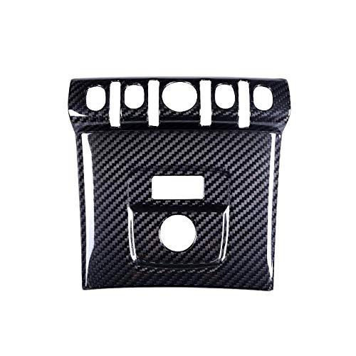 ZHAOHAOSC Copertura del Pannello accendisigari per Auto in Vera Fibra di Carbonio, per Mini Cooper Countryman F60 Accessori per Lo Styling della Console Centrale Interna-Nero