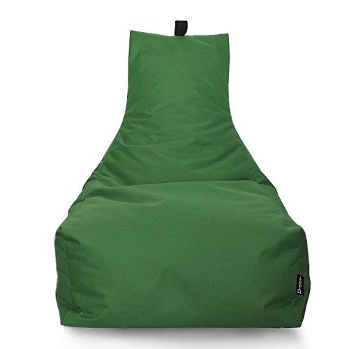 Lounge Sitzsack Liege Beanbag 32 Farben wählbar 90cm(Ø) Rückenlehne Bodenkissen Indoor Outdoor Sitzsäcke Gaming Kinder Bean Bag Erwachsene Riesensitzsack gefüllter Sessel(Apfelgrün)