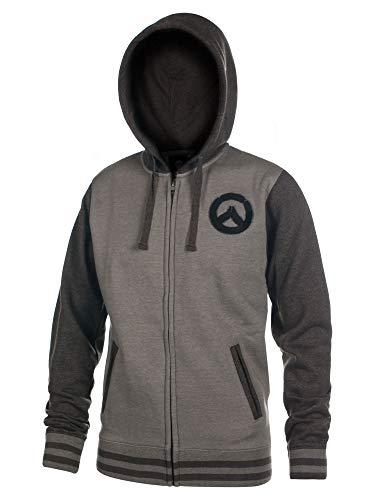Overwatch Kapuzen Jacke Logo Founding Member Varsity schwarz grau - L
