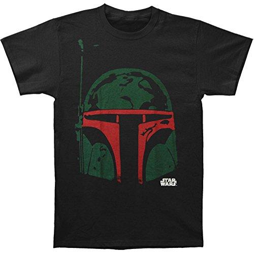 Star Wars Boba Head - T-Shirt - Homme, Noir, Small