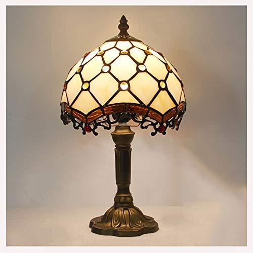 8-Zoll-Tiffany-Stil Tischlampen, Glasmalerei Lampenschirm für die Schlafzimmer Nachttischlampe,A