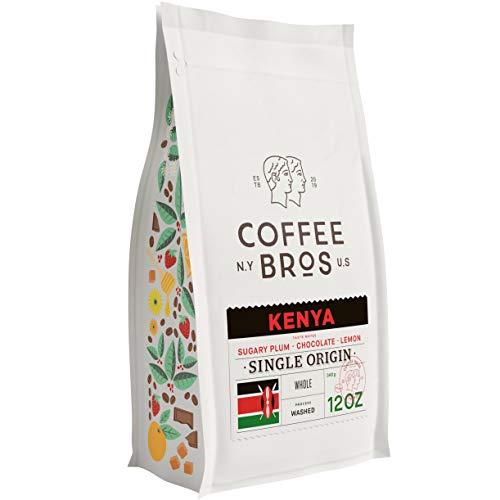 Coffee Bros., Kenya AA — Whole Bean Coffee — Single Origin 100% Arabica — 1 Bag (12oz) — Light Roast — Gourmet & Specialty