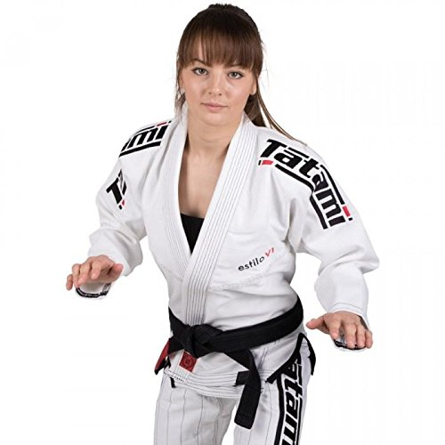 Tatami - Kimono Estilo BJJ para Mujer, Mujer, Color Blanco y Negro, Tamaño Size F2C