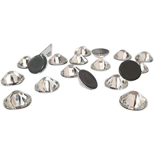Panini Tessuti, Strass termoadesivi Hotfix qualità MC, superiore a DMC, Crystal- Crystal Aurora BOREALE da SS 06 a 40 per Tessuti e decori, Brillantini,rhinestones