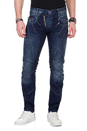Cipo & Baxx Jeans Hose dunkelblau C-768 32/32, Dunkelblau