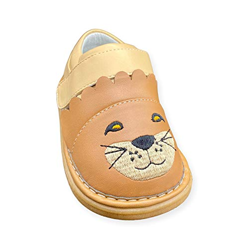 Wee Squeak Toddler Squeaky Shoes Leo The Lion Size 5 Tan