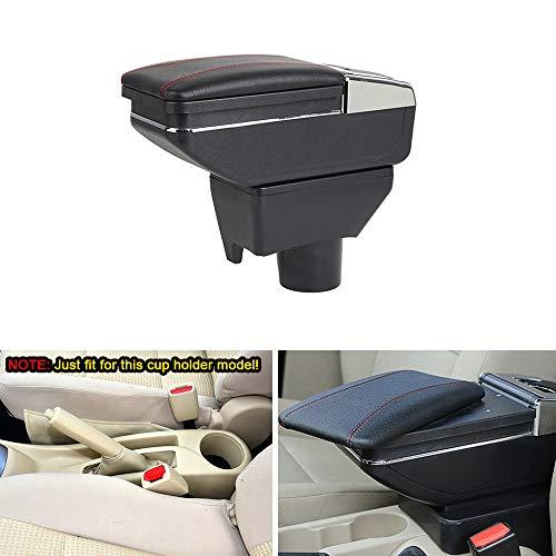 Apoyabrazos Para T oyota Vios FS Yaris L 2014-2019 Reposabrazos Con Cenicero y Portavasos Consola Central Almacenamiento Caja Auto Accesorios Negro