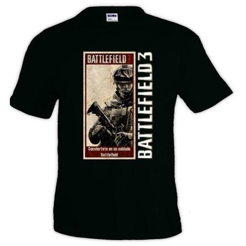 Camiseta Battlefield ¡Alístate!, manga corta (Talla: Talla L Unisex Ancho/Largo [56cm/74cm] Aprox])